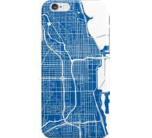 Chicago Map - Deep Blue iPhone Case/Skin