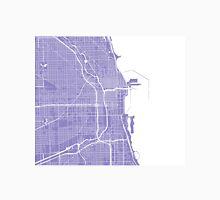 Chicago Map - Light Purple Unisex T-Shirt