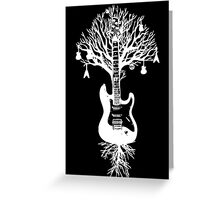 Nature Guitar White Tree Music Banksy Art Greeting Card