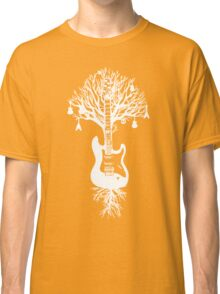 Nature Guitar White Tree Music Banksy Art Classic T-Shirt