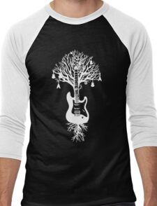 Nature Guitar White Tree Music Banksy Art Men's Baseball ¾ T-Shirt