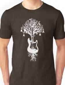 Nature Guitar White Tree Music Banksy Art Unisex T-Shirt
