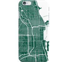 Chicago Map - Dark Green iPhone Case/Skin