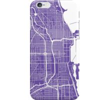 Chicago Map - Purple iPhone Case/Skin