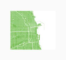 Chicago Map - Light Green Unisex T-Shirt