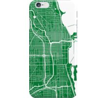 Chicago Map - Green iPhone Case/Skin