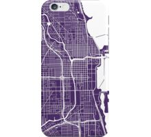 Chicago Map - Dark Purple iPhone Case/Skin