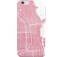 Chicago Map - Pink iPhone Case/Skin