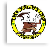 The Fighting Brown Coats with logo Canvas Print