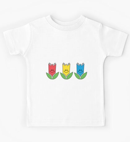 Flowers Of Primary Colors - Fleurs Aux Couleurs Primaires Kids Tee