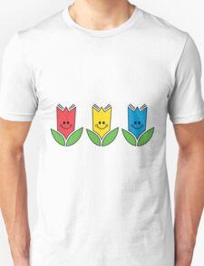 Flowers Of Primary Colors - Fleurs Aux Couleurs Primaires T-Shirt