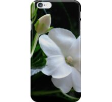 White Impatiens iPhone Case/Skin