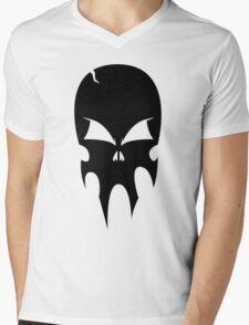 Skull - version 1 - black Mens V-Neck T-Shirt