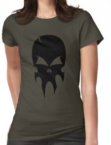 Skull - version 1 - black Womens Fitted T-Shirt
