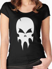 Skull - version 2 - white Women's Fitted Scoop T-Shirt
