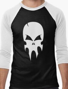 Skull - version 2 - white Men's Baseball ¾ T-Shirt