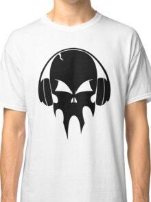 Skull with headphones - version 1 - black Classic T-Shirt