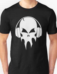 Skull with headphones - version 2 - white T-Shirt