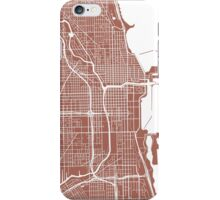 Chicago Map - Light Brown iPhone Case/Skin