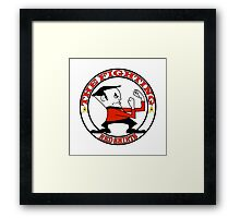 The Fighting Red Shirts with logo Framed Print