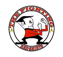 The Fighting Red Shirts with logo Photographic Print