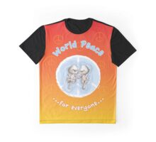 WORLD PEACE OTTERS Sunset Graphic T-Shirt