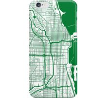 Chicago Map - Green Inverted iPhone Case/Skin