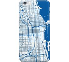 Chicago Map - Deep Blue Inverted iPhone Case/Skin