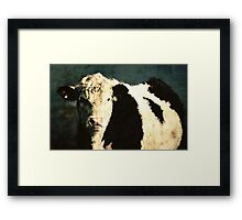 Portrait of white face Framed Print