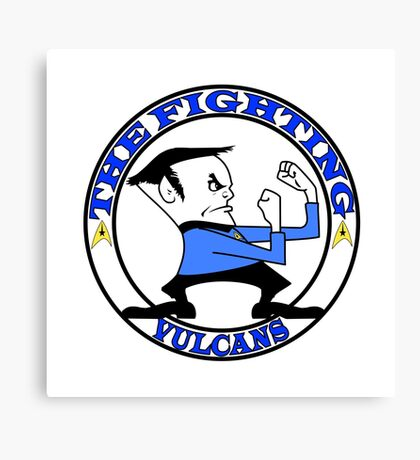 The Fighting Vulcans with logo Canvas Print
