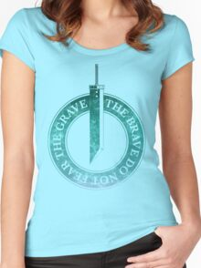 VII - The Brave Do Not Fear The Grave Women's Fitted Scoop T-Shirt
