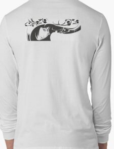 Black White Girl Long Sleeve T-Shirt