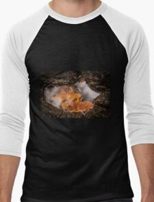 Clouds in a Puddle Men's Baseball ¾ T-Shirt