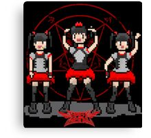 "Baby ""Pixel"" Metal !! (black) Canvas Print"