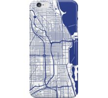 Chicago Map - Inverted French Blue iPhone Case/Skin