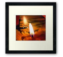 Taken by Fire Framed Print