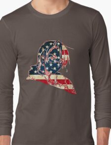 America and His Flag Long Sleeve T-Shirt