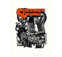 Clockwork Orange Graphic Art Print