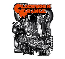 Clockwork Orange Graphic Photographic Print