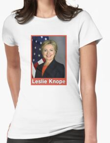 Hillary Clinton, Leslie Knope Design Womens Fitted T-Shirt