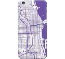 Chicago Map - Purple Inverted iPhone Case/Skin