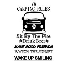 camping rules Photographic Print