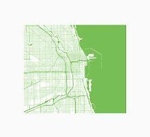 Chicago Map - Light Green Inverted Unisex T-Shirt