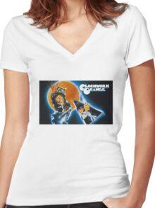 Clockwork Orange graphic tee Women's Fitted V-Neck T-Shirt