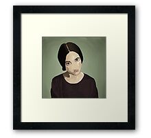 The Girl with Dark Hair Framed Print