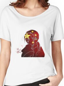 China and His Flag Women's Relaxed Fit T-Shirt