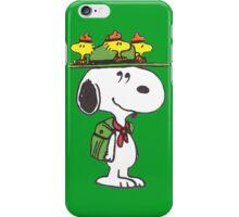 hat snoopy peanut  iPhone Case/Skin
