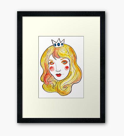 Mint Peach  Framed Print