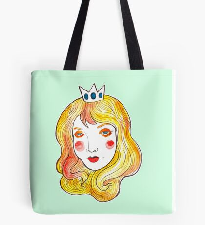 Mint Peach  Tote Bag