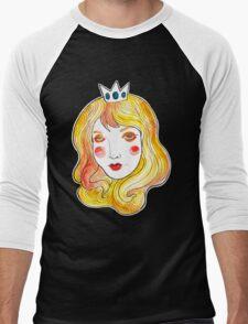 Mint Peach  Men's Baseball ¾ T-Shirt
